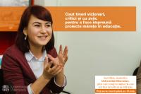 """Silvia: """"Mi-am găsit în sfârşit un loc în educaţie – să deschid prima şcoală democratică pentru elevii din România."""""""